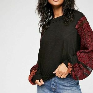 Free People We The Free Island Dream Black Top L